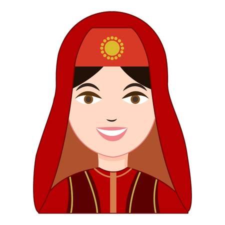bailarinas arabes: Turk mujer en traje tradicional icono