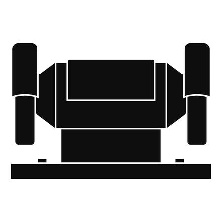 automated tooling: Metalworking machine icon, simple style Illustration
