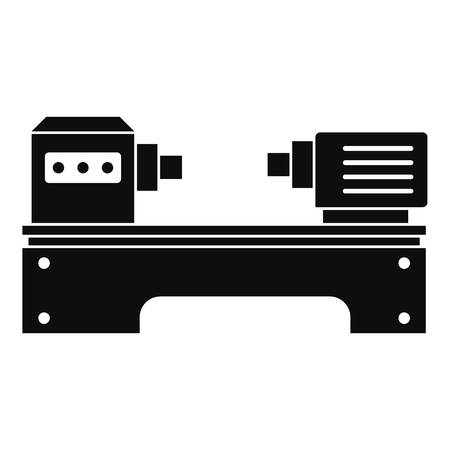 Lathe machine icon, simple style 矢量图像
