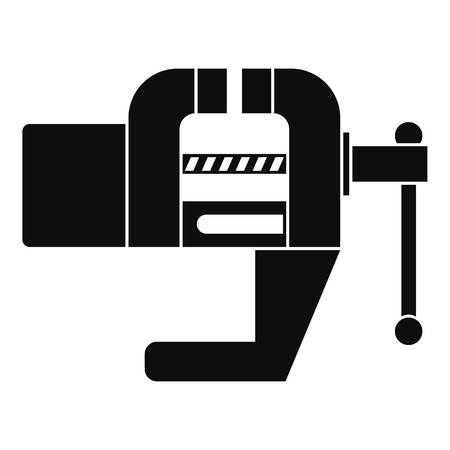 Vise tool icon, simple style Иллюстрация