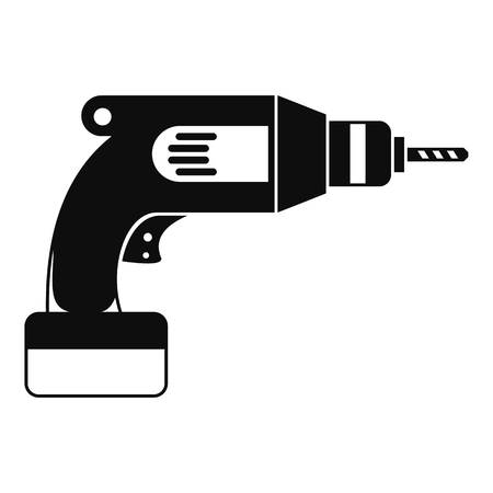 cordless: Drill icon, simple style