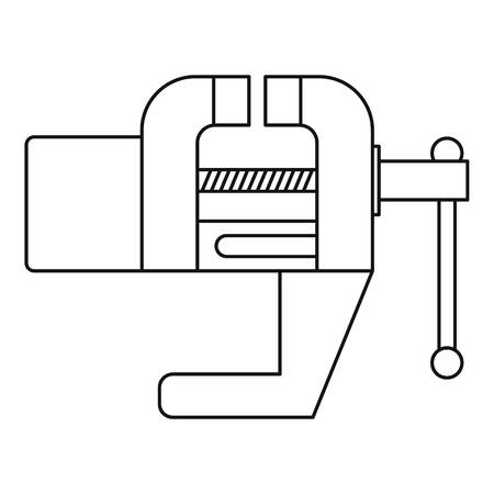 Vise tool icon, outline style