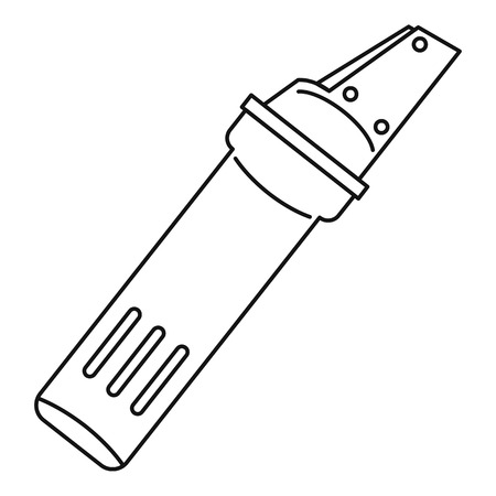 Glass cutter icon, outline style