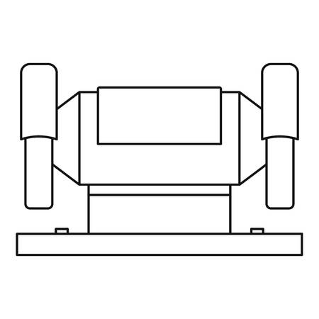 machining: Metalworking machine icon, outline style