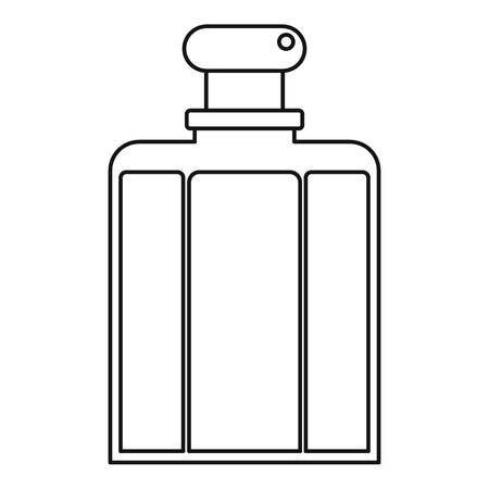 perfumery: Bottle of female perfume icon, outline style