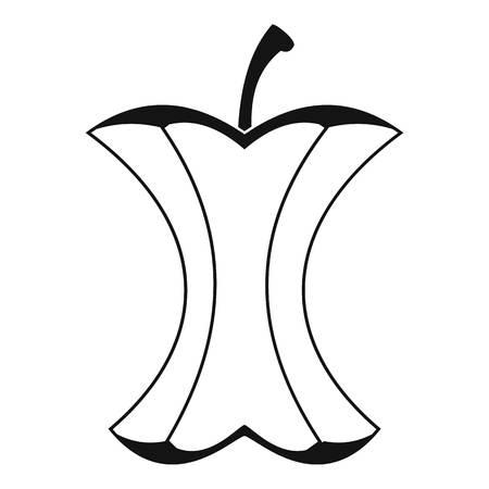 Icône de souche d'Apple, style simple Banque d'images - 76646527