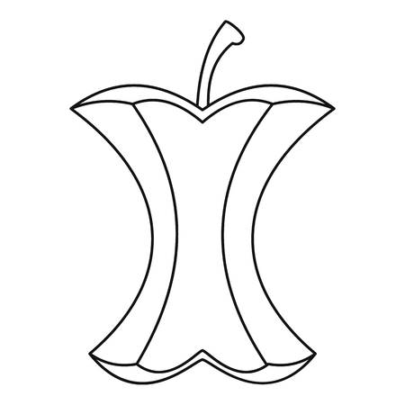 Apple stump icon, outline style