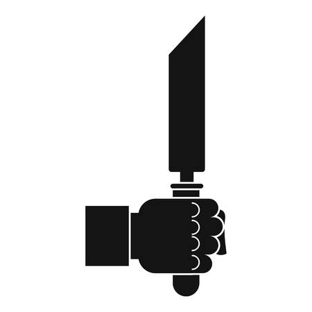Pincer or plier in man hand icon, simple style Illustration