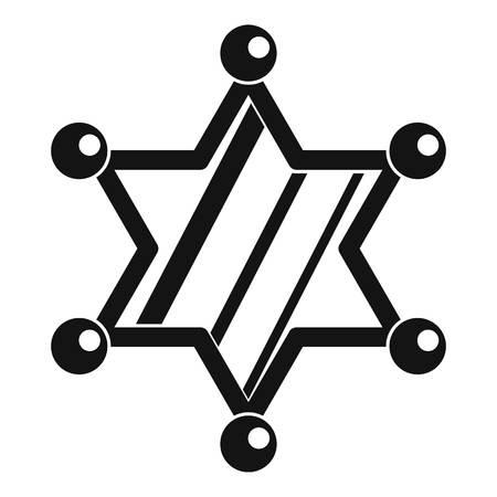 Sheriff star icon, simple style Illustration