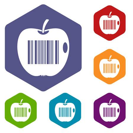 encode: Code to represent product identification icons set