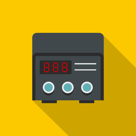 Professional tattoo machine icon. Flat illustration of professional tattoo machine vector icon for web on yellow background 版權商用圖片 - 77076102