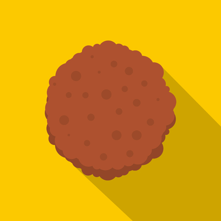 Cutlets icon. Flat illustration of cutlets vector icon for web on yellow background