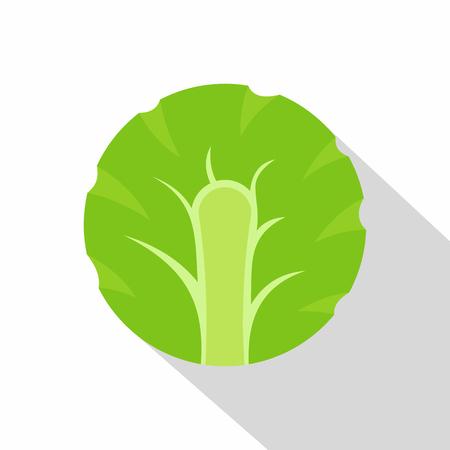 Fresh slice of broccoli icon. Flat illustration of fresh slice of broccoli vector icon for web on white background