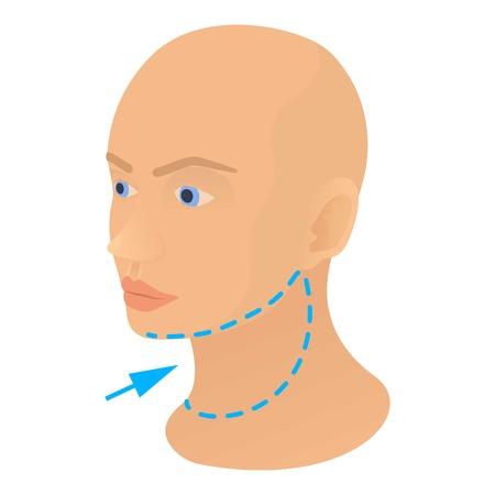 wrinkly: Neck plastic correction icon. Cartoon illustration of neck plastic correction vector icon for web Illustration