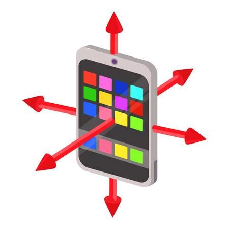 Colorimeter icon. Cartoon illustration of colorimeter vector icon for web Illustration