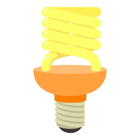 Energy saving bulb icon. Cartoon illustration of energy saving bulb vector icon for web