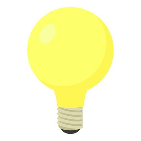 Light bulb icon. Cartoon illustration of light bulb vector icon for web