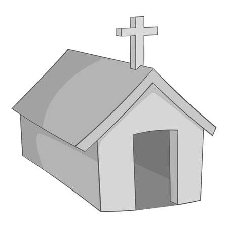 jesuit: The church in the village of Indians, North Argentina icon in monochrome style isolated on white background vector illustration