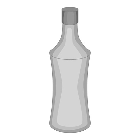 bottled: Bottle icon in monochrome style isolated on white background vector illustration