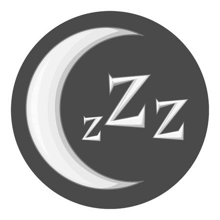 snoring: Night icon in monochrome style isolated on white background vector illustration
