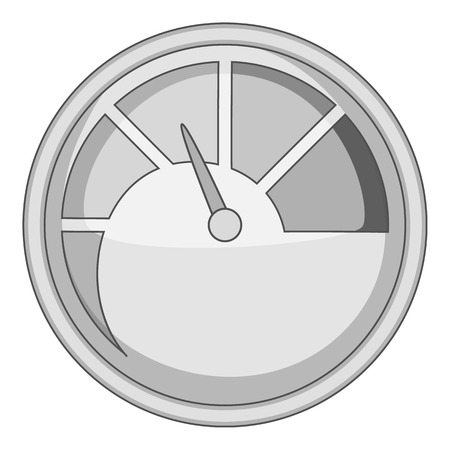 boiler: Indicator icon monochrome Illustration