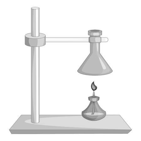 Icono de equipo de laboratorio en estilo monocromo aislado en la ilustración de vector de fondo blanco Vectores
