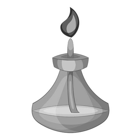 Chemical burner icon in monochrome style isolated on white background vector illustration Illustration