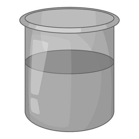 Glass jar icon in monochrome style isolated on white background vector illustration Illustration