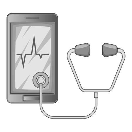 Icône de diagnostic téléphonique monochrome