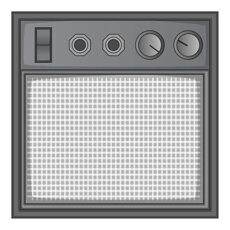 guitar amplifier: Guitar amplifier icon monochrome Illustration