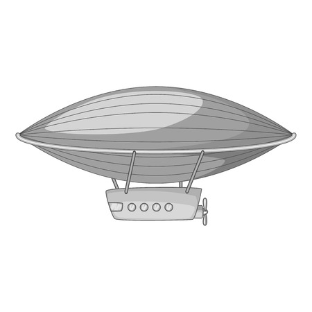 Airship icon monochrome Illustration