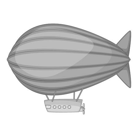 elliptic: Flying airship icon monochrome