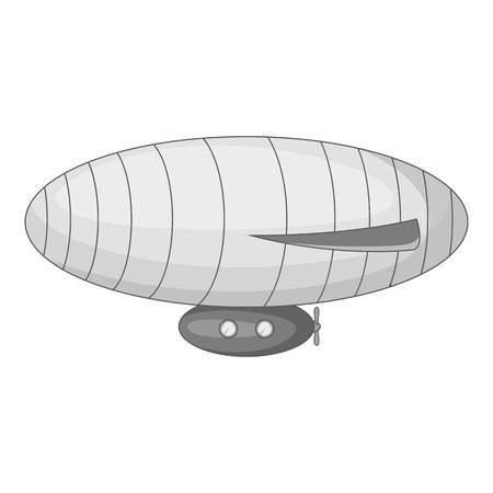 elliptic: Elliptic airship icon monochrome Illustration