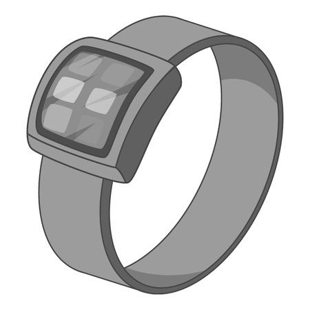 Smart watch icon monochrome