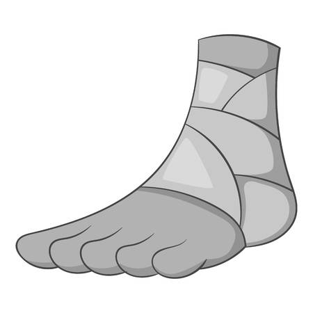Injured ankle icon monochrome