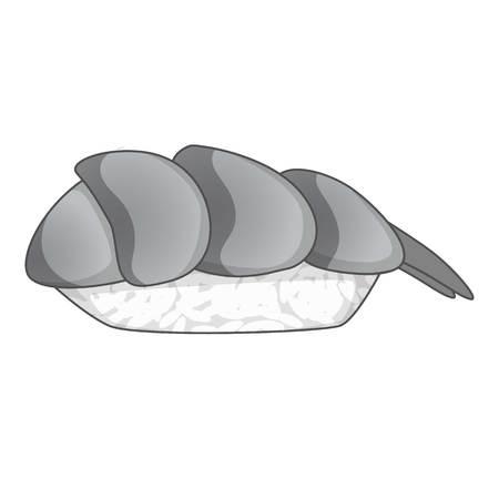 susi: Nigiri sushi icon monochrome