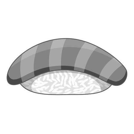 Salmon sushi icon monochrome Vektorové ilustrace