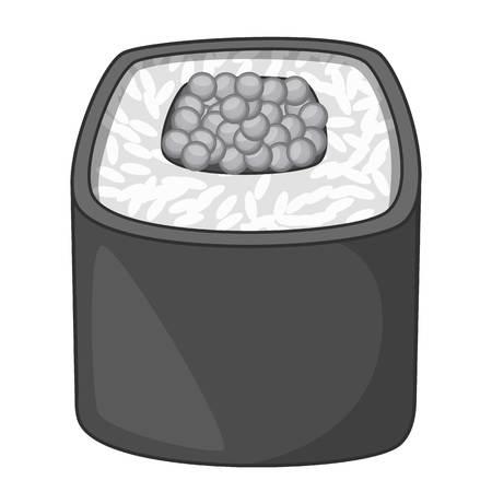 Sushi roll icon monochrome