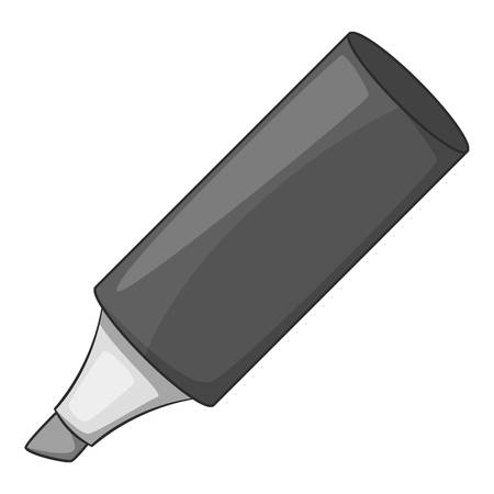 writting: Marker icon monochrome Illustration
