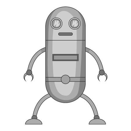 Fiction robot icon monochrome