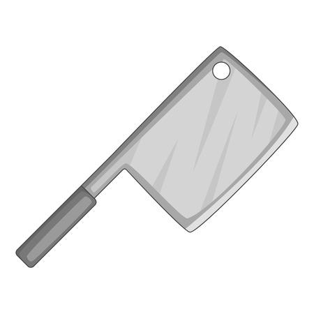 meat chopper: Meat knife icon monochrome