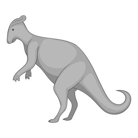 Oviraptor icon monochrome