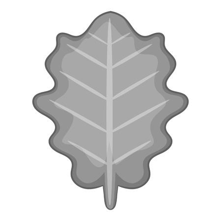 vegetate: White beam leaf icon monochrome Illustration