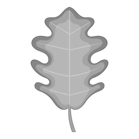 vegetate: Oak leaf icon monochrome