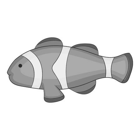 Clown fish icon monochrome Illustration