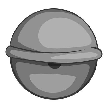Bloodshot eyeball icon monochrome