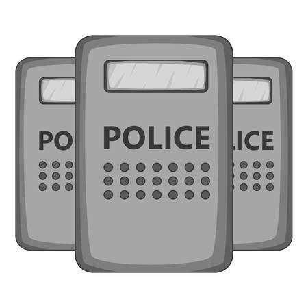 riot: Riot shields icon monochrome
