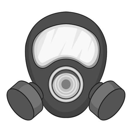 Gas mask icon monochrome