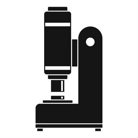 vise grip: Blacksmith automatic hammer icon in simple style isolated vector illustration