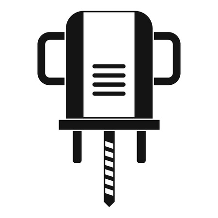 Boer drill icon in simple style isolated vector illustration.